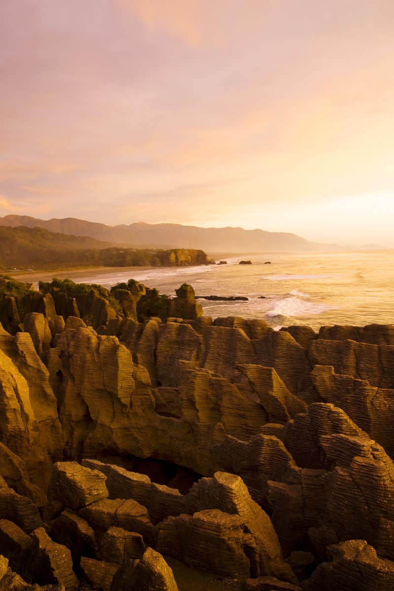 pancake rocks sunrise