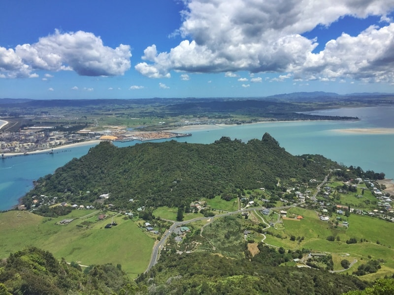 looking out from the summit of mount manaia