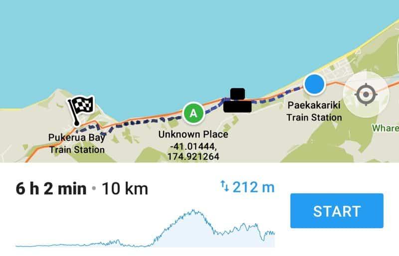 paekakariki escarpment track map from the maps.me app