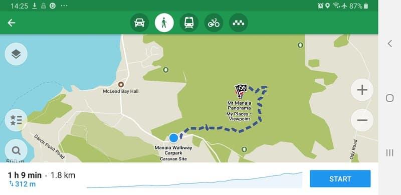mount manaia walk map