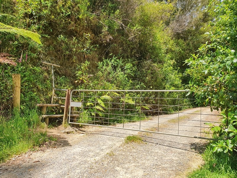 a fence at the start of the 4wd track for mangaone walkway