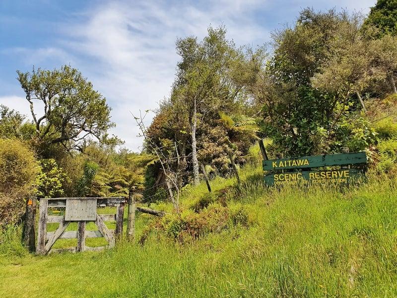 kaitawa reserve entrance point