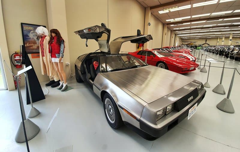 delorean at southwards car museum