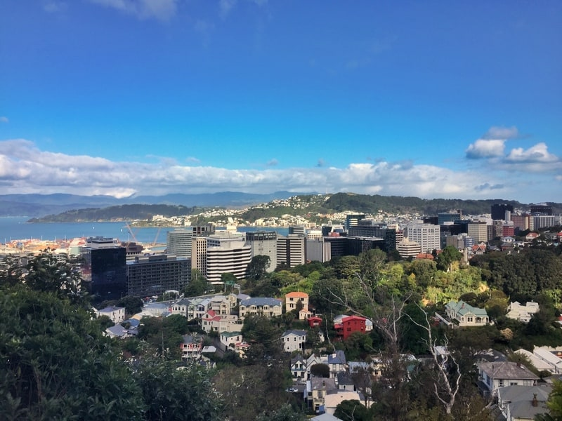 the view of wellington harbour from tinakori hill