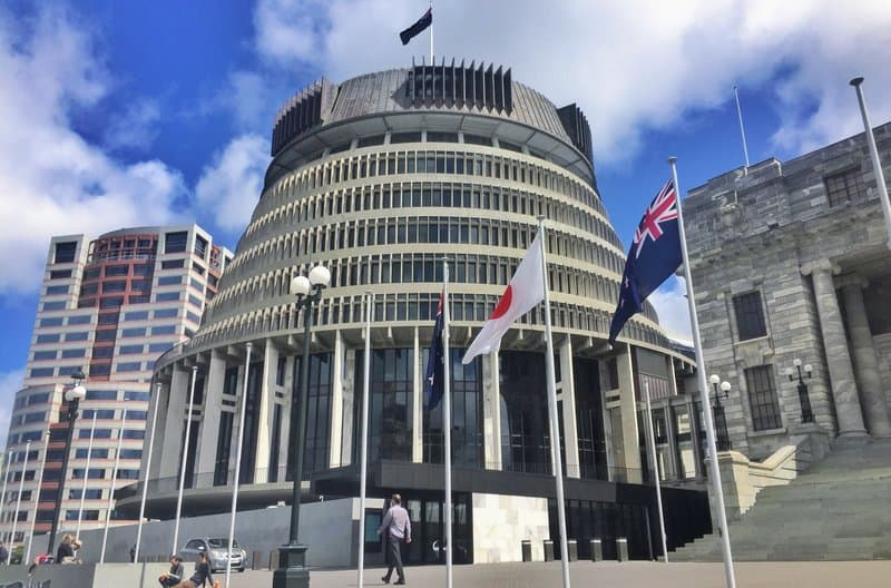 outside new zealand parliament