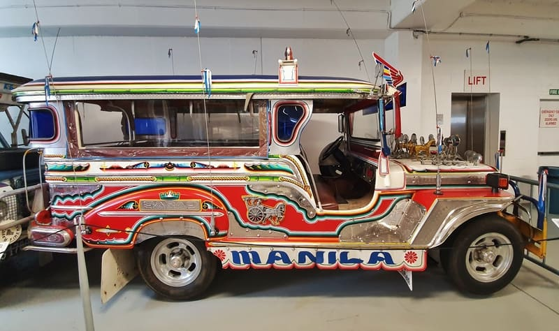 jeepney on display at southwards car museum