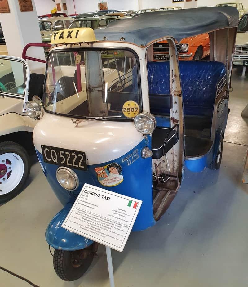 tuk tuk at the southwards car museum