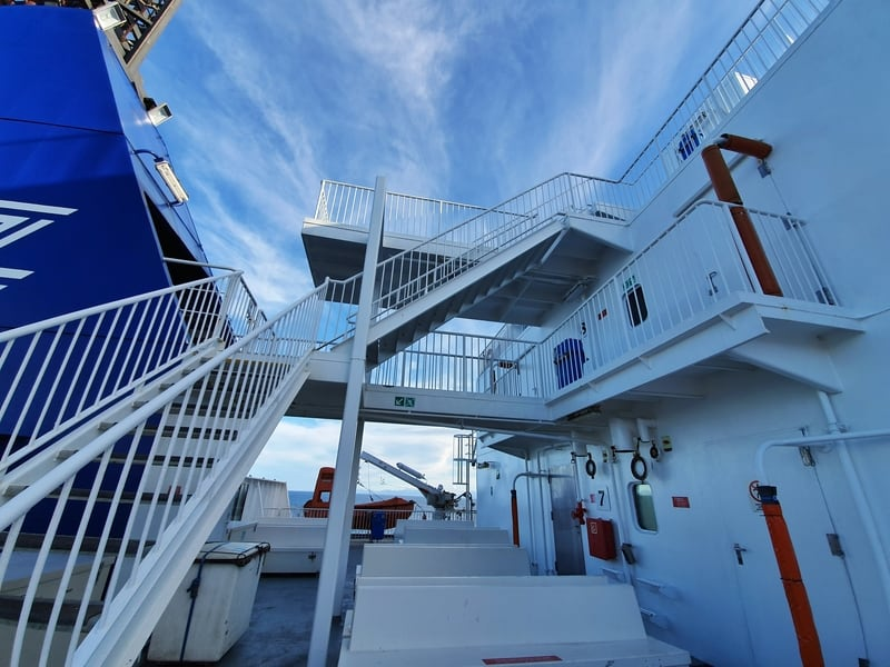 stairs on the bluebridge ferry