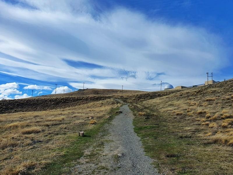 look towards mount john observatory