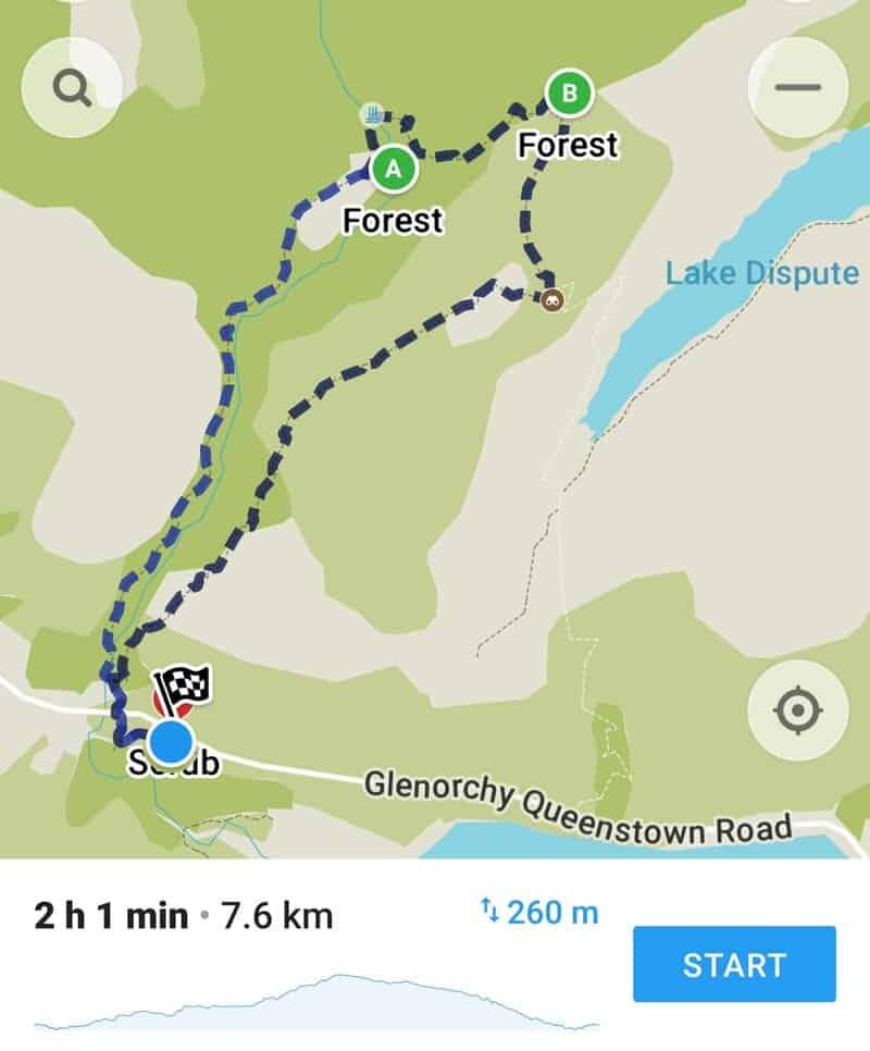 mount crichton loop track map
