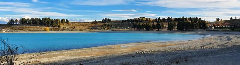 the shores of lake tekapo