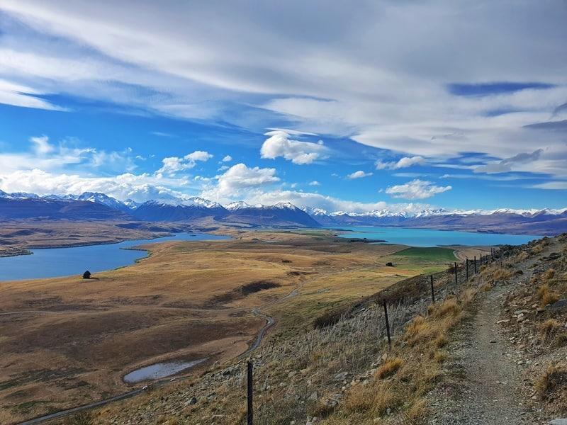 view of lake alexandrina and lake tekapo