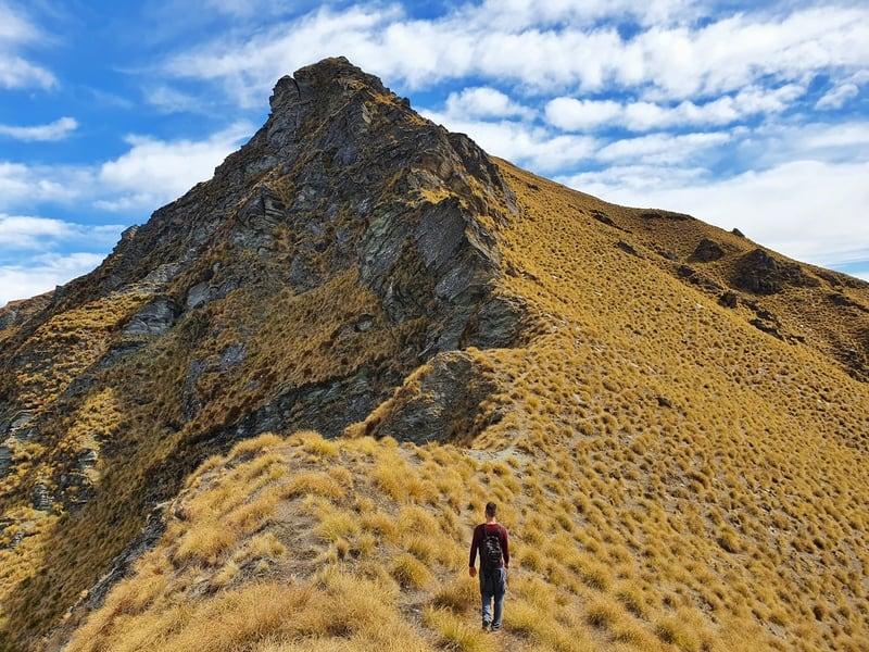 brown peak ridge line