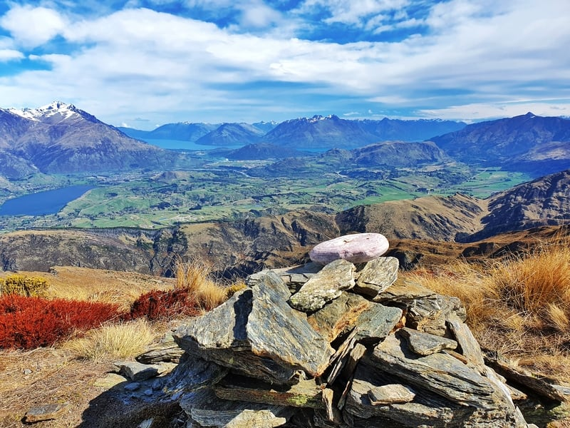 cairn at the top of brow peak