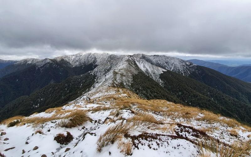 snow on the tararua ranges
