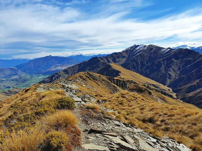 the ridgeline looking towards coronet peak