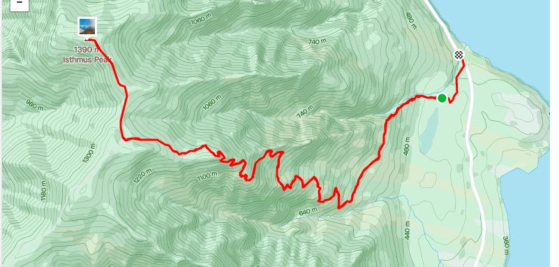 isthmus peak map