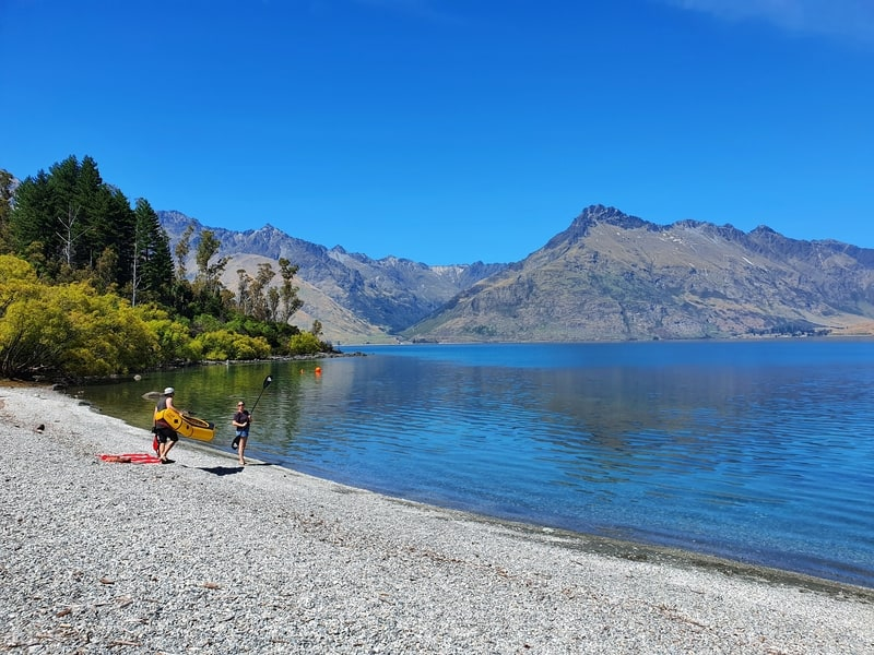 wilson bay along the queenstown to glenorchy scenic drive