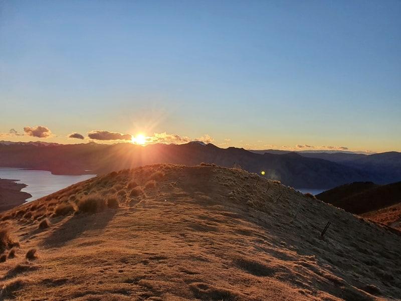 watching sunrise from isthmus peak