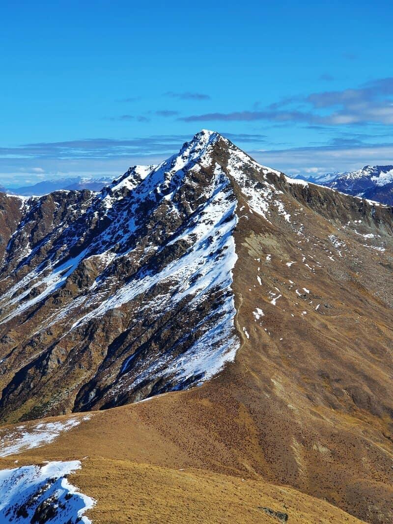 view from bowens peak towards ben lomond summit